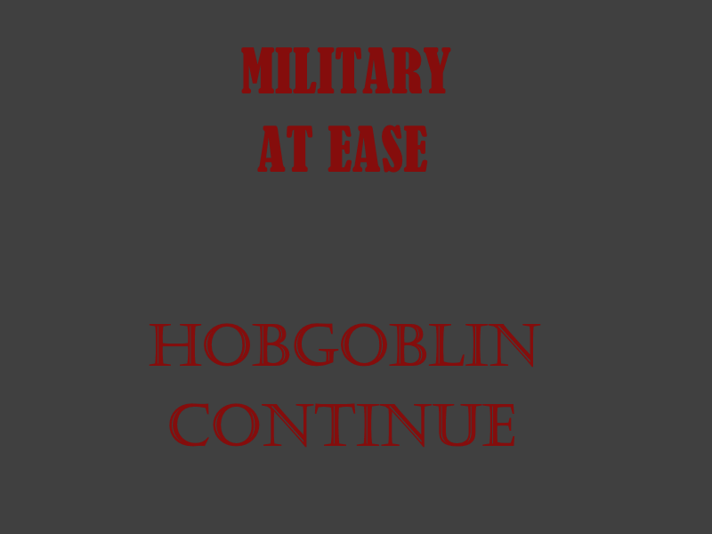 MILITARY STOP